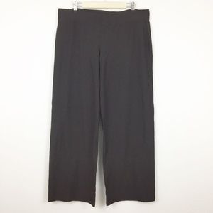 Eileen Fisher Crepe Wide Leg Brown Pull On Pants
